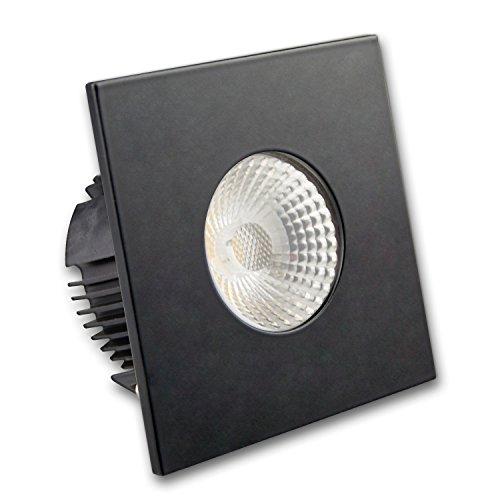 Isolicht Einbaustrahler IP65 für Feuchtraum & Bad/Aussen, Einbauspot fürs Badezimmer, Deckeneinbauleuchte (Einbauleuchte IP65 für GU10 Leuchtmittel inkl. Cover eckig, schwarz)