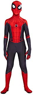Kids Costume Spiderman Compatible Superhero Boys Cosplay Costume Spider Man Bodysuit Halloween (L (height 47-51 Inch))