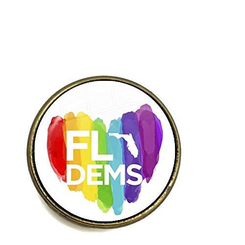 CLEARNICE Broche De Arcoíris del Orgullo Gay Lesbiana LGBT 20Mm Cúpula De Cristal Cabujón Collar Pines Joyería para Mujeres Hombres Solo Amante Regalo para Homosexuales