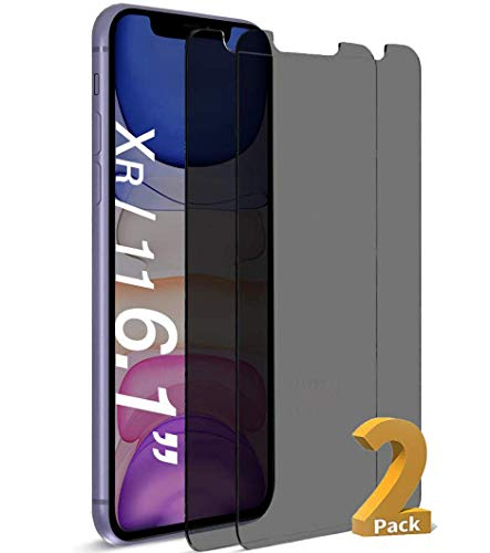 HXL Glass Screen Protector for iPhone 11 iPhone Xr, Anti-Spy Tempered Glass Film,3D Touch (6.1 inch 2 Packs)