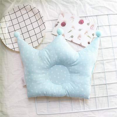 New Baby Shaping Kissen verhindern Flachkopf Kleinkinder Crown Dot Bettwäsche Kissen Newborn Boy Girl Zimmerdekoration Zubehör - Blau