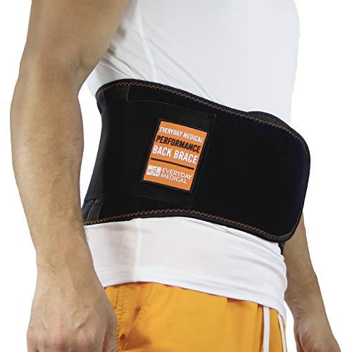 Cinturón Soporte Lumbar por Everyday Medical I Cinturon Lumbar Prevenir Daños para Hombres y Mujer I Faja Lumbar para la Espalda y Terapia de Postura I Ajuste Dual I Lumbar Support Brace I XXL