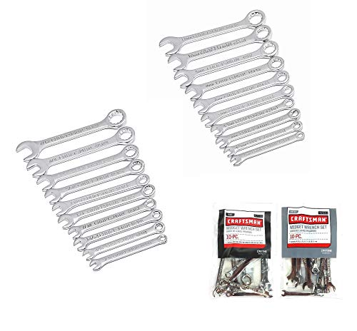 Craftsman 20 Piece Standard SAE & Metric MM Midget Ignition Wrench Set