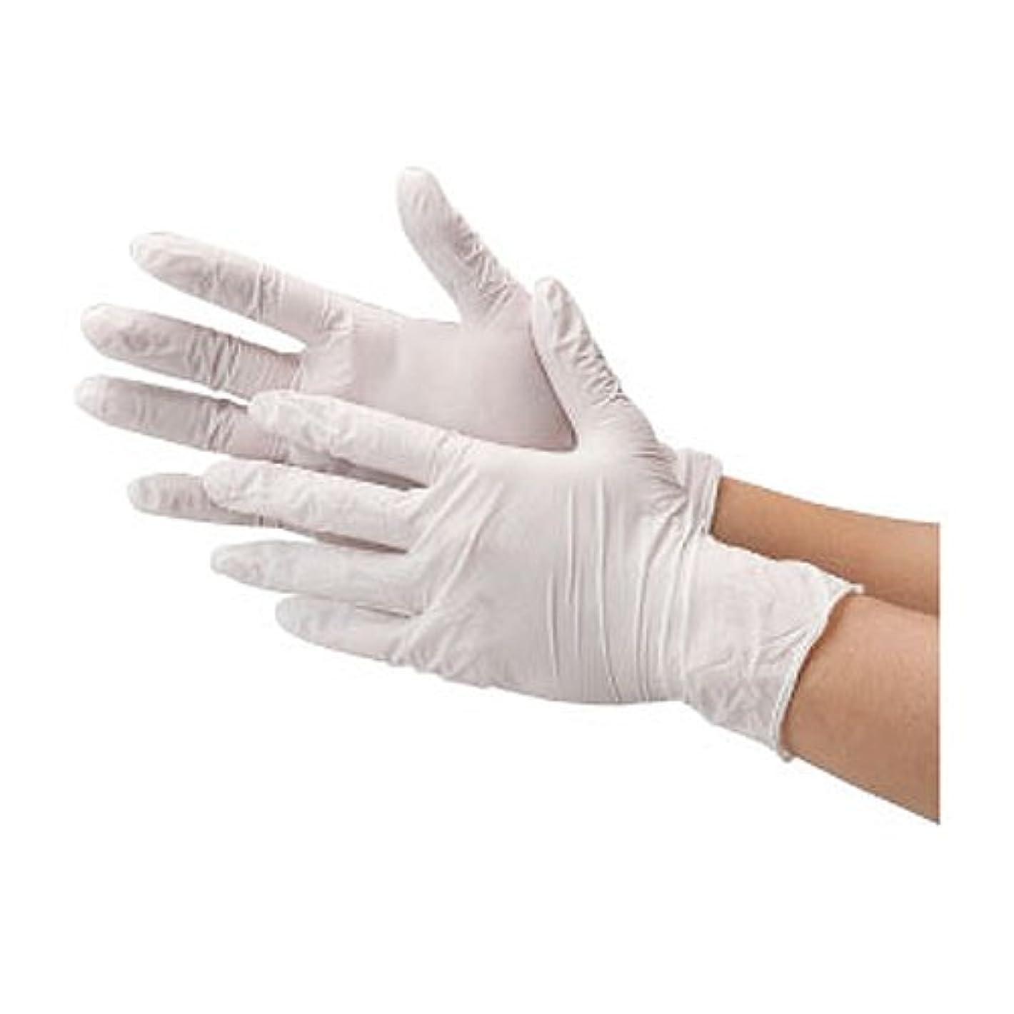 殉教者確保するチーフ川西工業 ニトリル 使いきり手袋 ストロング 粉無 100枚入り 2037 ホワイトSS