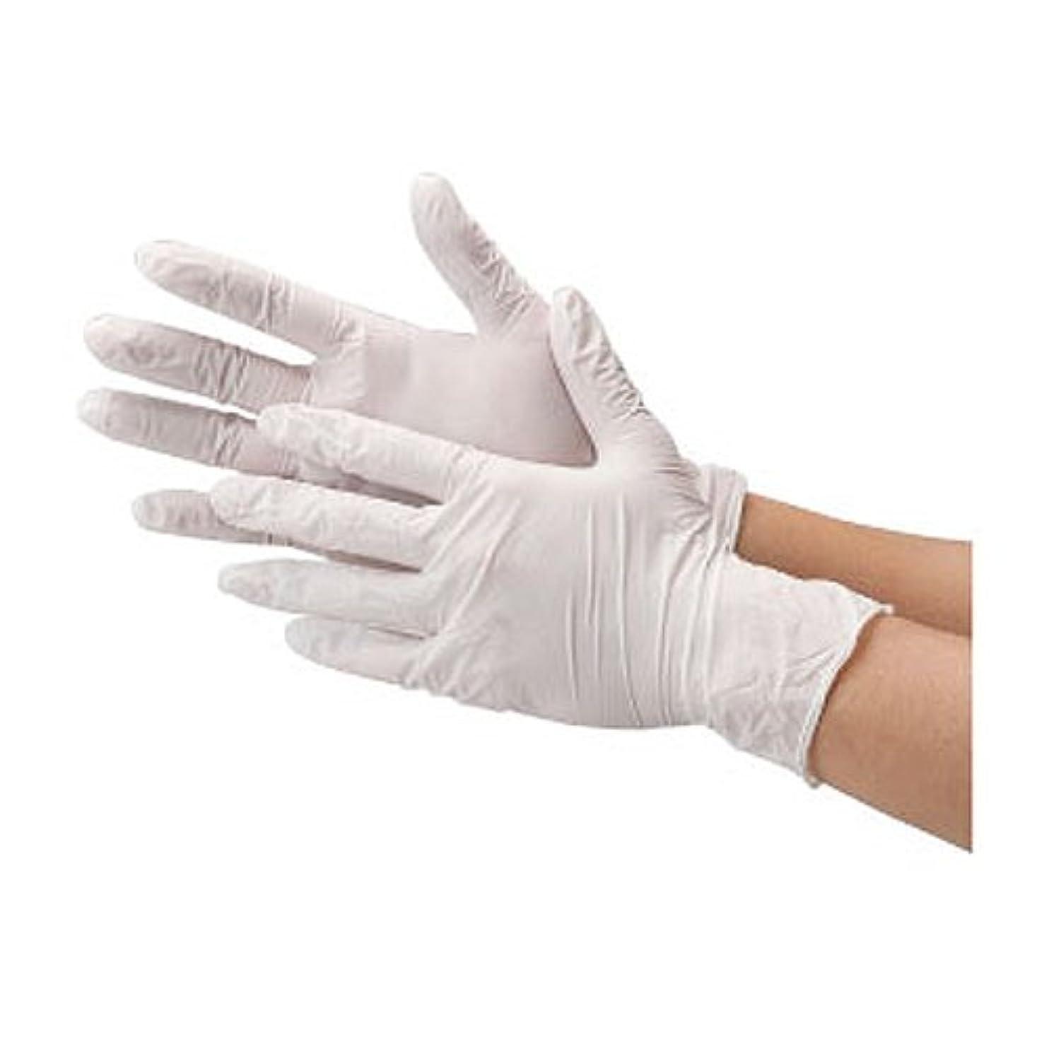 夫婦クロールトレッド川西工業 ニトリル 使いきり手袋 ストロング 粉無 100枚入り 2037 ホワイトL