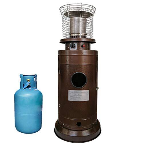 DLT Martellato Bronzo Propano Liquido Patio Heater Standup con 18 Centimetri Diametro Riscaldamento, Commerciale Cortile Patio di Riscaldamento rapido