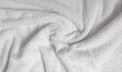 Fabrics-City% REINWEIß FROTTEE STOFF WALKFROTTEE SCHWER 2SEITIG STOFFE, 2810