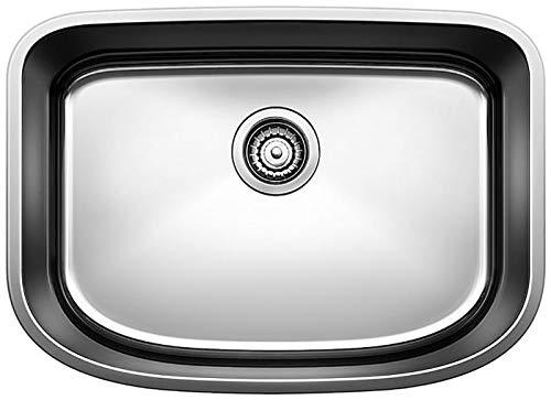 """BLANCO 441587 ONE Undermount Stainless Steel Kitchen Sink, 25"""" X 18"""" - MEDIUM"""