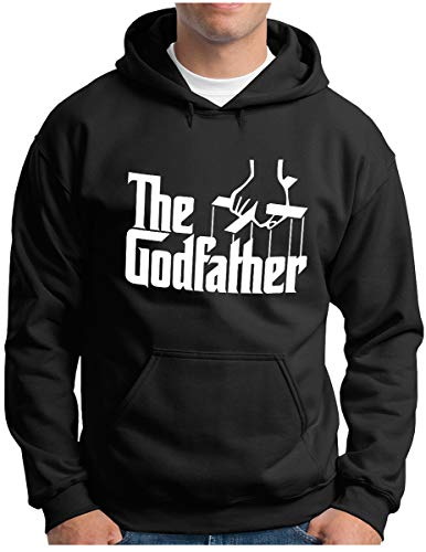 OM3® - The Godfather Hoodie | Herren | Mafia Trilogie Chicago New York USA Kult - Kapuzen-Pullover Schwarz, XXL