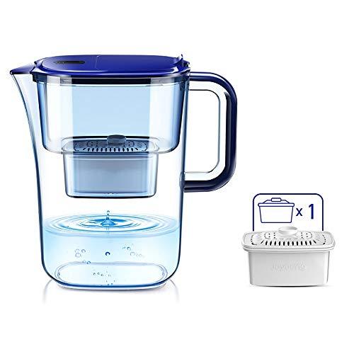 YAUUYA Wasserfilter Filterkartusche Aktivkohle Wasserfilter Höchste Filterleistung mehrschichti Großer Filter zur Reduzierung von Kalk, Chlor geschmacksstörenden Stoffen im Wasser 3.5L