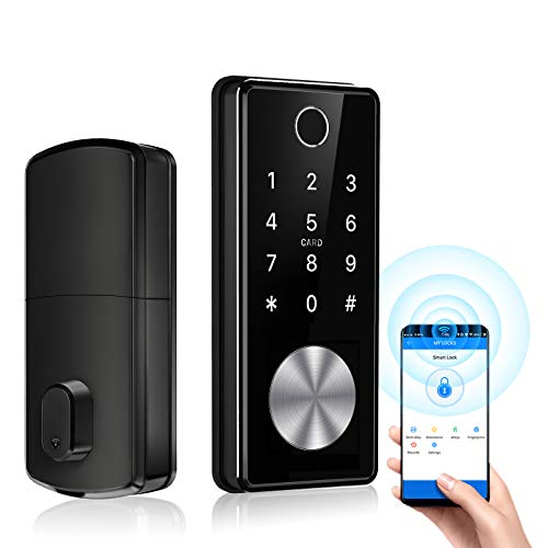 Tiffane Keyless Entry Door Lock Dead Bolt, Biometric Fingerprint Door Lock,Electronic Door Locks with Keypads, Digital Auto Lock Bluetooth Smart Door Locks for Home Office Garage…