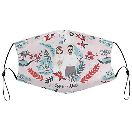 Dkisee Fashion Unisex Staubmaske mit Filterelement, verstellbare Ohrschlaufen, Gesichtsmaske für den Außenbereich, Schutzmaske für Hochzeiten