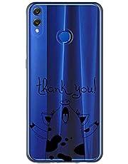 Oihxse Case Transparente Suave TPU Compatible con Huawei Nova 3I/P Smart Plus Funda [Lindo Caricatura Flor Serie Dibujos] Cristal Protector Carcasa Anti Rasguños Bumper Cover-Cerdo