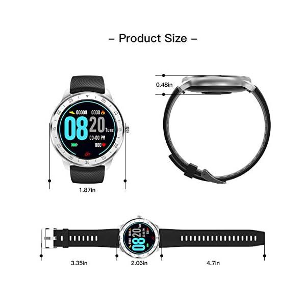 CanMixs Smartwatch, Reloj Inteligente IP67 Pulsera Actividad Hombre y Mujer, CM13 Deportivo Reloj Fitness con Pantalla… 7