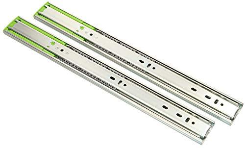 KOTARBAU® 1 Paar (2 Stück) Teleskop-Schienen kugelgelagert 400 mm Vollauszug Schubladenschienen mit SoftClosing Selbsteinzug für Schubladen
