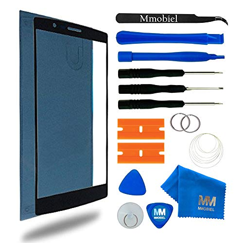 MMOBIEL Front Glass Compatible with LG G4 Series 5.5 inch (Black) Display Touchscreen incl Tool kit