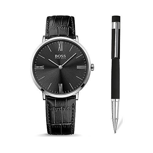 BOSS Herren-Uhren-Sets Analog Quarz One Size Leder 87543323