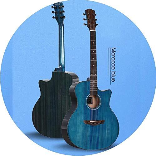 Guitarra eléctrica Guitarra acústica clásica 41 pulgadas de madera cortada for principiantes...