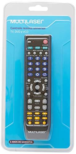 Multilaser AC088 Controle Remoto 3 Em 1 Universal, Preto