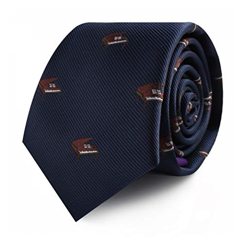 Pianist Piano Player Tie for Him | Musician for Men | Keyboard Player Skinny Neckties | Present for Work Colleague | Bday Prezzie for Guys (Piano)