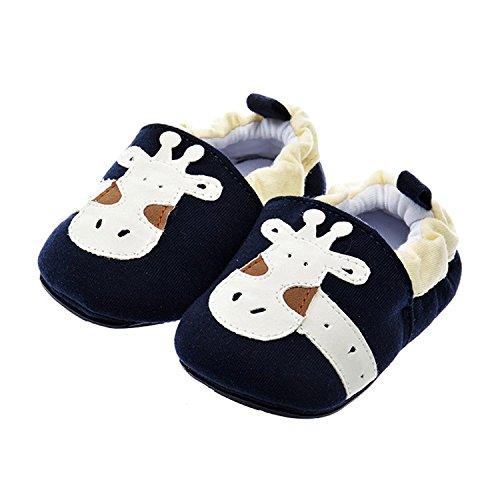 PAMBO Baby Slip-On Walking Shoes Breathable Soft Soled Boy(Size 3,White)