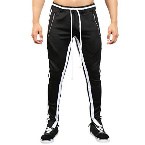 Overdose Pantalones Cargo Hombre Pantalones Pantalón De Chándal Pantalón De Chándal De Patchwork Suelto Liso para Hombre Pantalones Elasticos