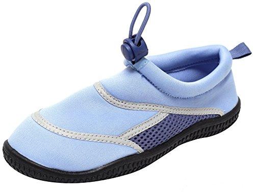 ZAPATO EUROPE Jungen Mädchen Kinder Neopren Aquaschuhe Badeschuhe blau (30/31)