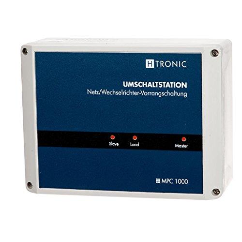 H-Tronic 1114530 MPC1000 Umschaltstation für Solar-Insellösungen (Generatorbetrieb, Wohnwagen und Outdoor)