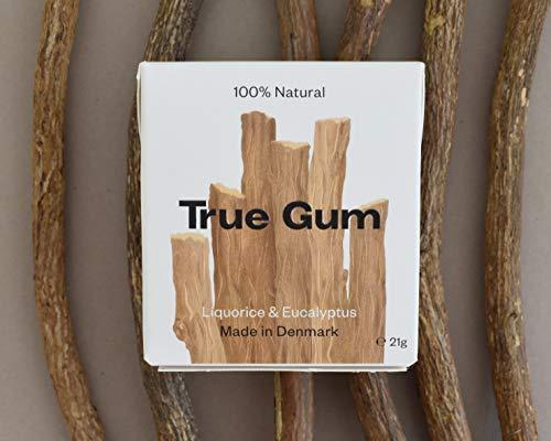 True Gum 10er SET: Lakritze & Eukalyptus | Plastikfreier Kaugummi | Biologisch Abbaubar |Vegan | 10 x 21 g, 210 g, TRGU310