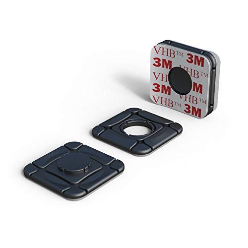 Sistema de fijación Ideal Via-t/Telepeaje/Teletac, móvil, GPS, Router ClickClix® Adhesivo (Patentado) (6 Unidades, Negro)
