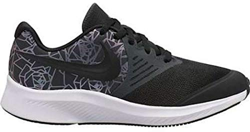 Nike Star Runner 2 Rebel, Scarpe da Corsa da Donna, Antracite/Nero/Bianco/Light Aqua, 37.5 EU