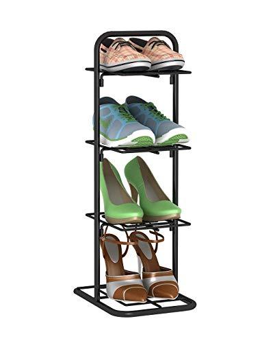 4 Tier Shoe Rack Hierro Simple Almacenamiento Muebles de gabinete con diseño Retro Zapatero Organizador estantes