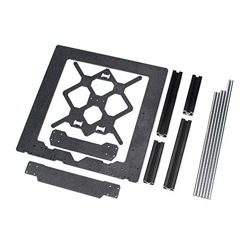 WY-YAN Clone for Prusa I3 Mk3 3D Printer Parts Aluminum Frame Aluminum Black Profile and Smooth Rods Kit
