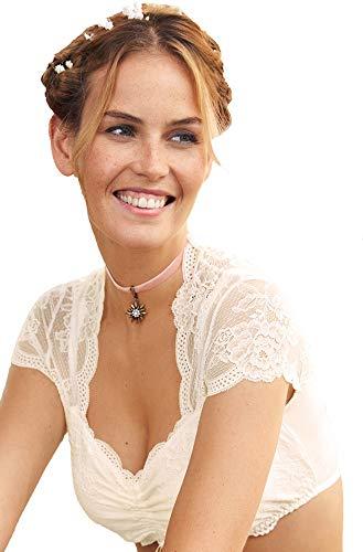 Nina von C. Spitzen Damen Dirndlbluse Rena 16462718   Champagner Gr. 40