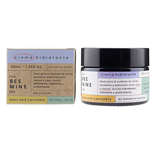 Beemine Crema Facial Hidratante con Aceite de Cáñamo, CBD