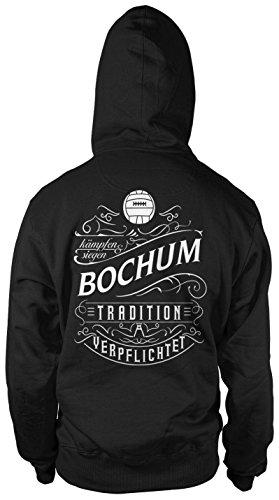 Mein Leben Bochum Männer und Herren Kapuzenpullover   Fussball Ultras Geschenk   M1 FB (Schwarz, XXL)