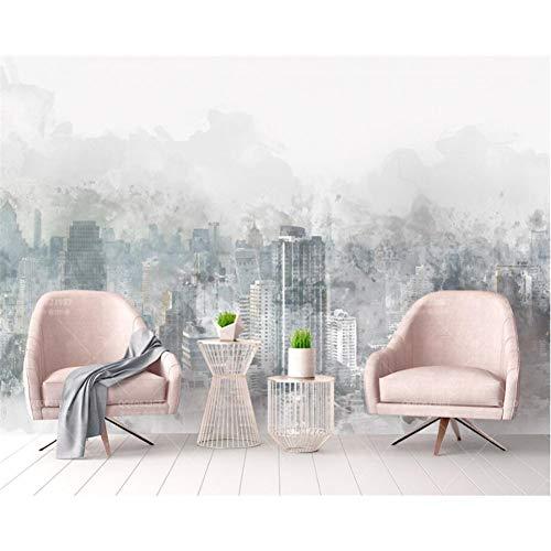 AAHHZ Moderner Wandteppich für Zuhause mit 3D-Hintergrund, handbemalt, Stadt, Landschaft, TV