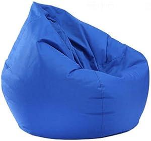 Mekysd Home Soft Lazy Sofa Cozy Single Chair Durable Furniture Unfilled Lounge Bean Bag (Blue)