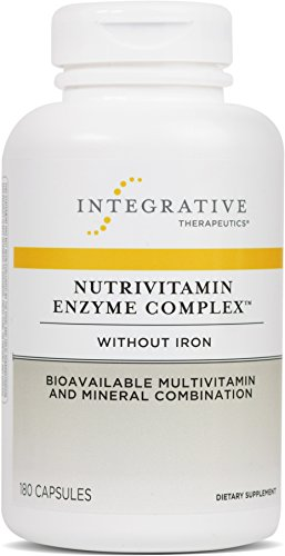 Integrative Therapeutics - Nutrivitamin Enzyme Complex without Iron - Bioavailable Multivitamin and Mineral Combination - 180 Capsules