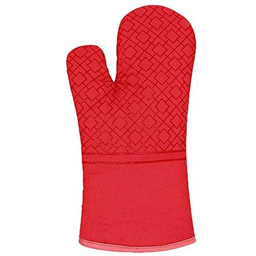Nuevos Guantes de Cocina, agarraderas, Guantes, Guantes aislantes para Hornear, para Barbacoa, Antideslizantes, de Lino, agarraderas, Almohadillas para Horno-Red Glove