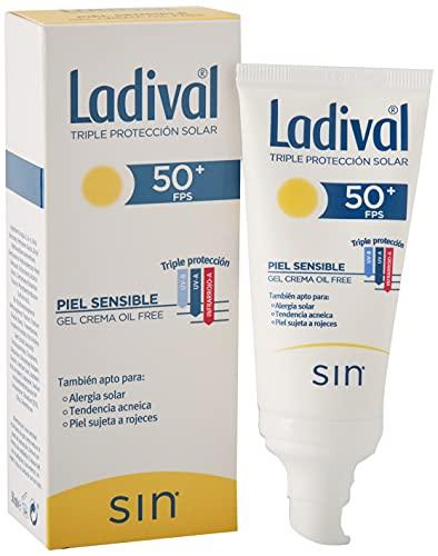 Ladival Protector Solar facial FPS 50 oil free para pieles sensibles( alérgicas, tendencia acneica y pieles rosáceas) – 50ml