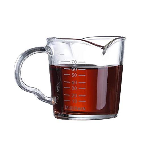 Shot-Glas für Espressos, 90 ml, Dreifach-Krug mit doppeltem Ausgießgriff 1 Stück