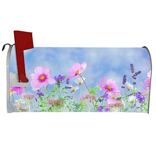 VWAQ Spring Flowers Magnetic Mailbox Cover - Summer Floral Decorative Magnet - MBM2