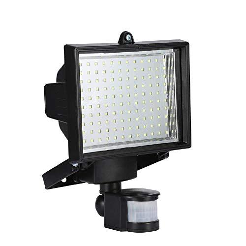 Ejoyous Luz del Sensor Solar 120Led, Foco Led Solar con Sensor de Movimiento PIR Iluminación Exterior, Lámpara de Iluminación de Seguridad Exterior para Front Door Terraza Porche Cancha de Baloncesto