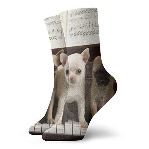 Perros (9)Calcetines unisex de moda, novela, individuales, suaves, deportivos y de ocio
