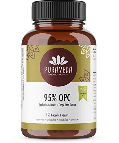 OPC - Extracto de semillas de uva - 150 cápsulas a 400 mg - Alta dosis - Precio Promo - 95% OPC (proantocianidina) - uva francesa - Vegano - 100% sin aditivos