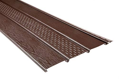 Kunststoffpaneele | braun | perforiert | Dachkasten | umweltresistent | Unterdach | PVC | außen | Verkleidung | Soffit | 200 x 30 cm
