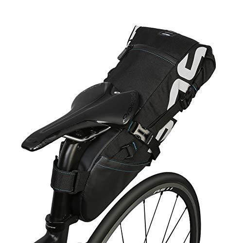 Bolsa de Bicicleta Bicicleta portátil de la Bicicleta Sillín Resistente al lágrima Poliéster Bicicleta de Bicicleta Bolsas traseras Correa de Silla de Montar Paquete de Estante de la Cola del Asiento