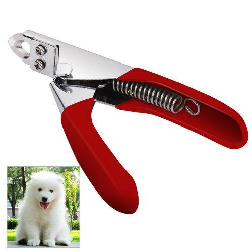 Accessotech Rojo Mascota Tijeras para Uñas Cortador para Perros Gatos Pájaros Cobaya Garras De Animal Tijera Corte