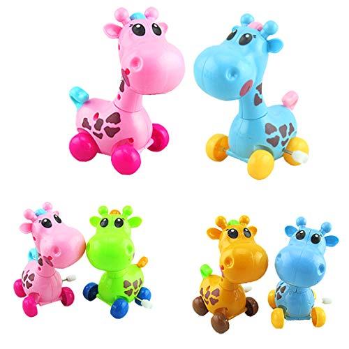 F Fityle Cartoon Uhrwerk Spielzeug, Aufziehspielzeug Wind Up Spielzeug - Giraffe